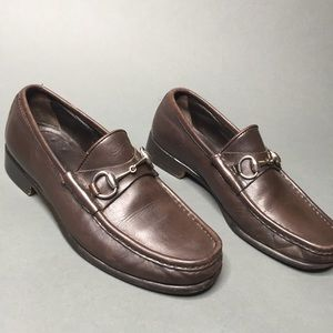 Vintage Gucci Brown Loafers Men's Size 6